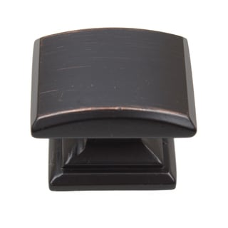 GlideRite 1.25-inch Domed Convex Square Oil Rubbed Bronze Cabinet Knobs (Pack of 10 or 25)
