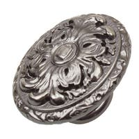 GlideRite 2-inch Old World Ornate Oval Brushed Pewter Cabinet Knobs (Pack of 10 or 25)