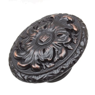 GlideRite 2-inch Old World Ornate Oval Oil Rubbed Bronze Cabinet Knobs (Pack of 10 or 25)