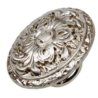 GlideRite 2-inch Old World Ornate Oval Satin Nickel Cabinet Knobs (Pack of 10 or 25)