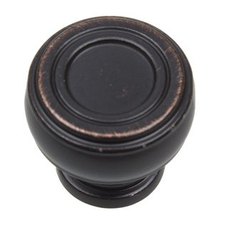 GlideRite 1.125-inch Diameter Bold Round Barrel-shaped Oil Rubbed Bronze Cabinet Knobs (Pack of 10 or 25)