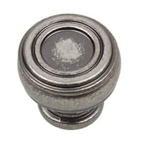 GlideRite 1.125-inch Diameter Bold Round Barrel-shaped Weathered Nickel Cabinet Knobs (Pack of 10 or 25)