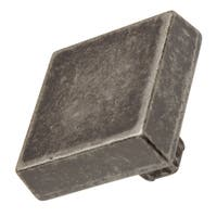 GlideRite 1.125-inch Modern Square Weathered Nickel Cabinet Knobs (Pack of 10 or 25)