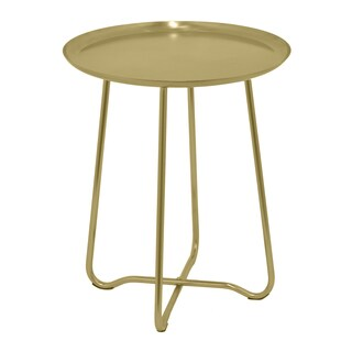 Three Hands Gold Metal Accent Round Table