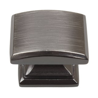 GlideRite 1.25-inch Domed Convex Square Brushed Pewter Cabinet Knobs (Pack of 10 or 25)