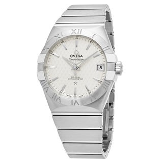 Omega Men's 123.10.38.21.02.003 'Constellation' Silver Dial Stainless Steel Swiss Automatic Watch