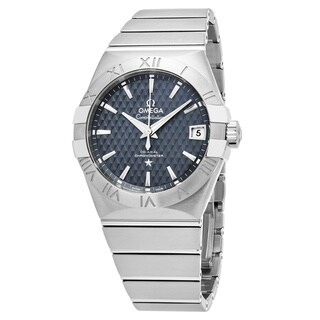 Omega Men's 123.10.38.21.03.001 'Constellation' Blue Dial Stainless Steel Swiss Automatic Watch