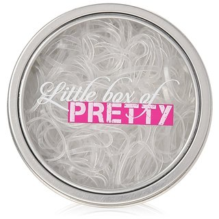 Little Box of Pretty Mighty 300-count Clear Hair Elastics Travel Tin