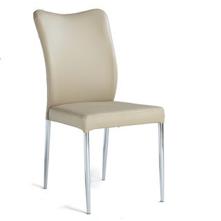 Christopher Knight Home North Beige Metal and Fabric Curvy-back Side Chairs (Set of 2)