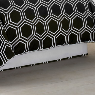 Jill Rosenwald Blackpoint Hex Bed Skirt