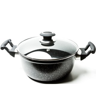 Marble Coated Forged Aluminum Non-Stick Dutch Oven Cooking Pot