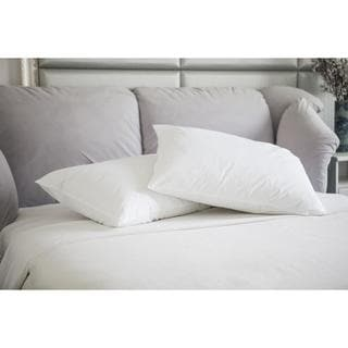 St. James Home Natural Memory White Duck Feather Jumbo Pillow (Set of 2)