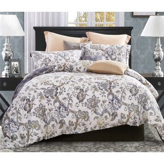 Word of Dream 3-piece Cotton Floral Blossom Print Duvet Cover Set