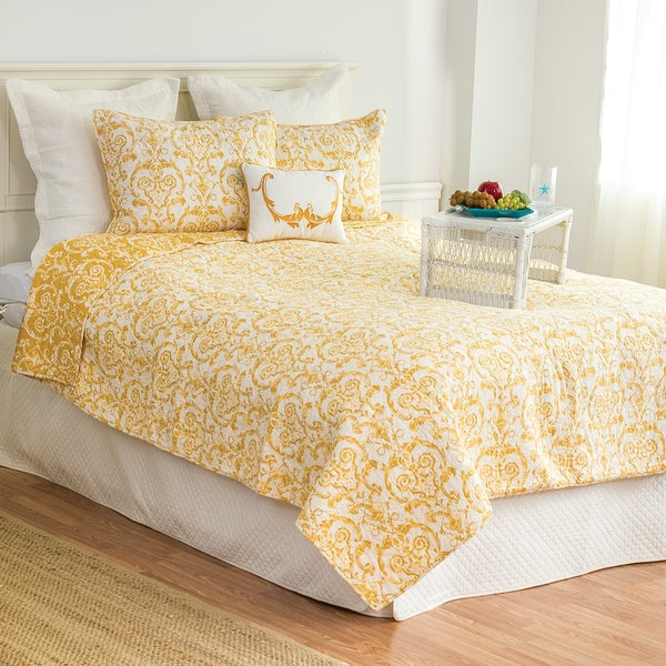 Florence Cotton Damask Quilt Set On Free Shipping Today 12864002