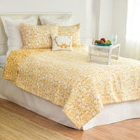 Florence Cotton Damask Quilt Set