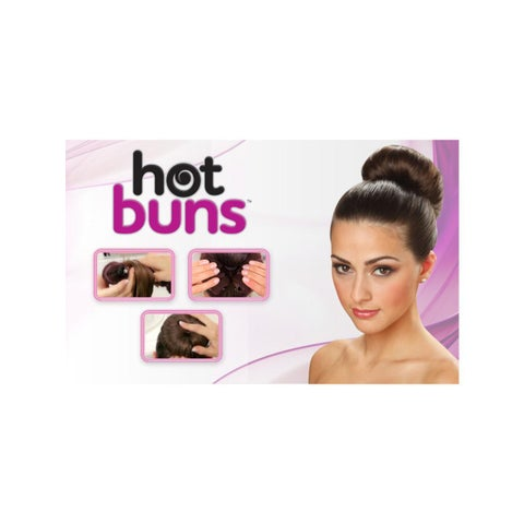 Hot Buns Dark Brown Donut Hair Bun Maker
