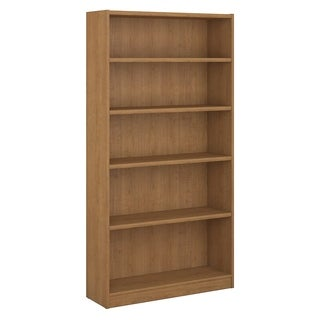 Bush Furniture Universal 5 Shelf Bookcase in Snow Maple
