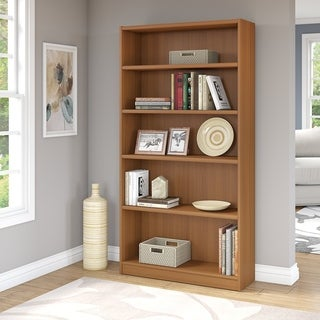 Pine Canopy Edelweiss 5-shelf Bookcase in Royal Oak Finish