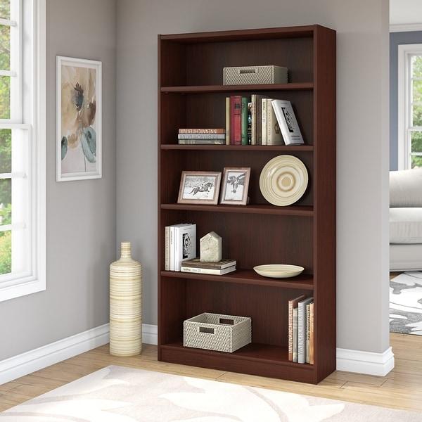Clay Alder Home Bernadotte Universal 5 Shelf Bookcase in Vogue Cherry