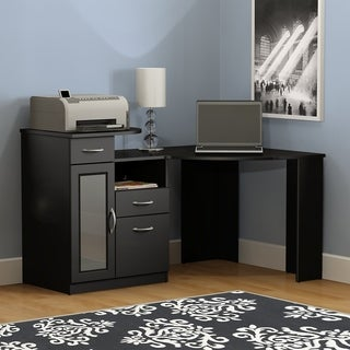 Bush Furniture Vantage Classic Black Corner Desk