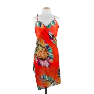 Imperial Home Women's Multicolor Rayon Sunflower Sarong Beachwear Wrap