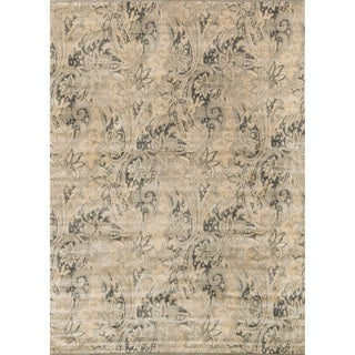 Francis Cream/ Slate Rug (12' x 15')
