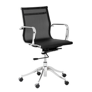 Sunpan Tanner Black Office Chair