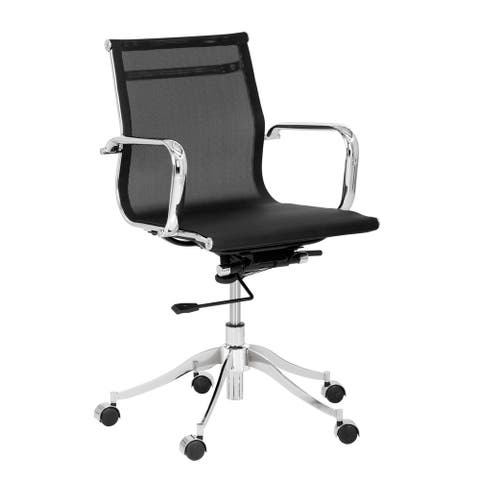 Sunpan Tanner Black Office Chair