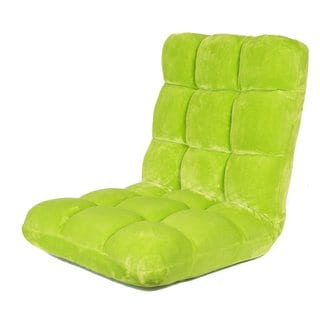 BirdRock Home Green Plush Memory Foam Floor/Gaming Chair