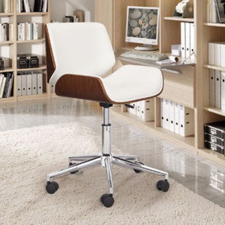 Adeco Bentwood Full Back Adjustable Home Desk Swivel Armless Office Chair