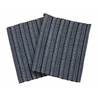 Blue Cotton Soft Door Mat