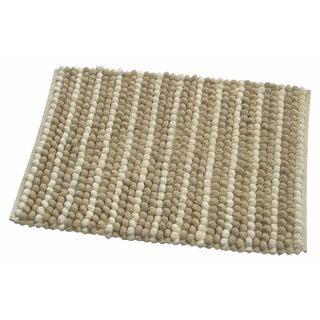 Beige Cotton Pebbles Door Rug