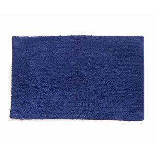 Benzara Navy Blue Cotton Canton Reversible Mat