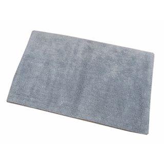 Benzara Cantone Stone Blue Cotton Reversible Bath Mat
