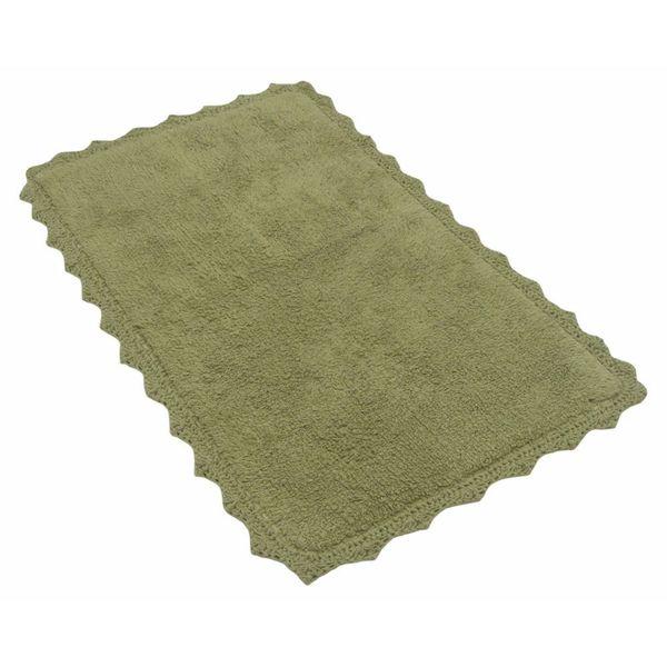 Benzara Sage Green Cotton Crochet Mat