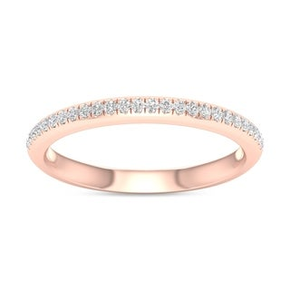 De Couer  IGI Certified 10k Rose Gold 1/10ct TDW Wedding Band