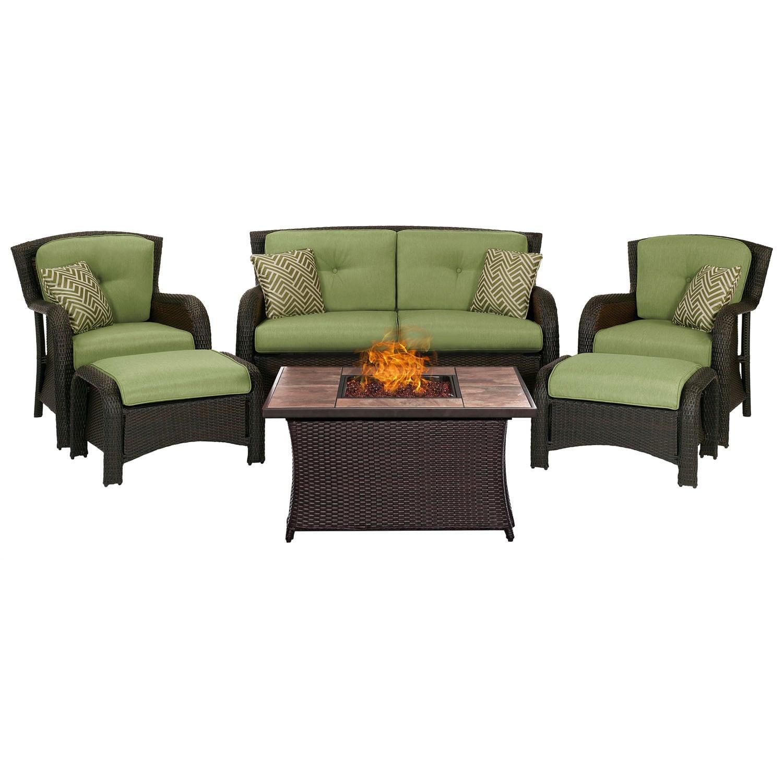 Hanover Outdoor Strathmere 6-Piece Lounge Set In Cilantro...