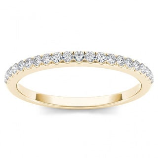 De Couer 10k Yellow Gold 1/6ct TDW Wedding Band