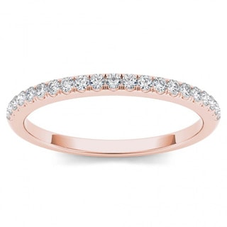 De Couer  IGI Certified  10k Rose Gold 1/6ct TDW Wedding Band