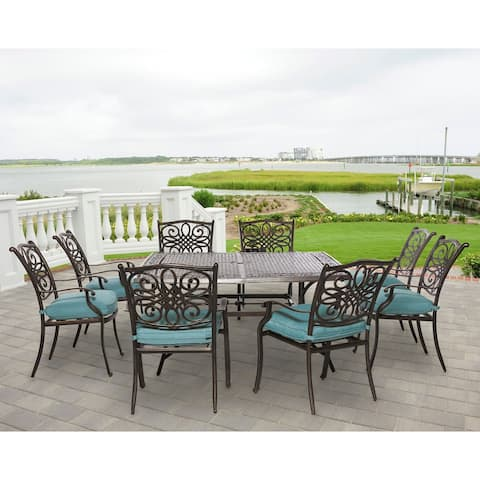 Hanover Outdoor Traditions 9-Piece Square Dining Set