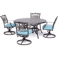 Hanover Outdoor Traditions 5-Piece Dining Set with Four Swivel Rockers