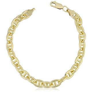 Fremada 14k Yellow Gold Filled 6.6mm Mariner Link Chain Bracelet