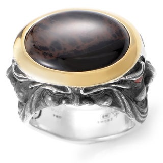Stephen Webster Silver and Yellow Gold Spiderman Jasper and Garnet Gargoyle Ring
