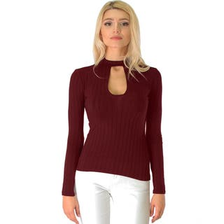 Ribbed Long-Sleeve Cutout Top|https://ak1.ostkcdn.com/images/products/12872946/P19633720.jpg?impolicy=medium