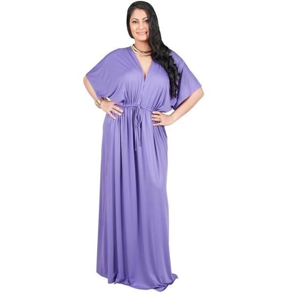 Shop Adelyn & Vivian Women\'s Plus-size Long V-neck Short ...