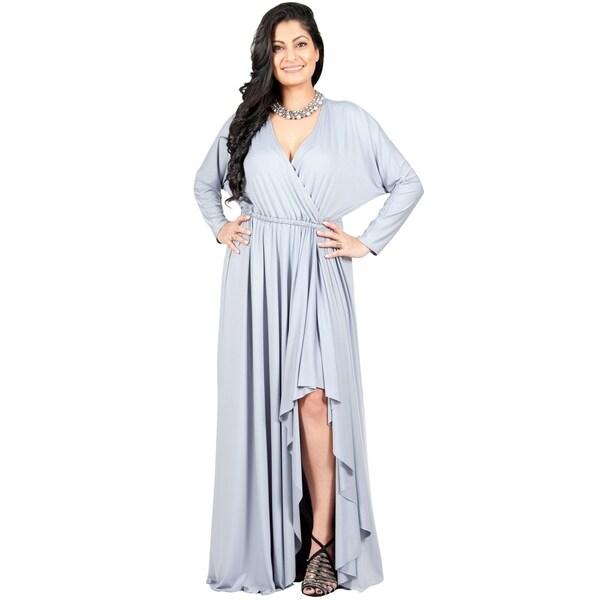 cf79def3f6b Adelyn & Vivian Women's Plus-size Long Sleeve Winter Formal
