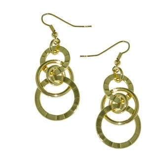 Isla Simone - 18 Karat Gold Plate Drop Geometric Earrings