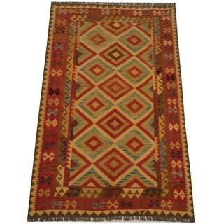 Herat Oriental Afghan Hand-woven Tribal Kilim (5'1 x 8'4)
