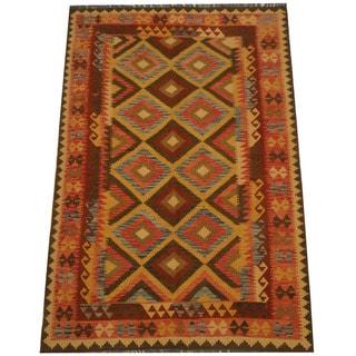 Herat Oriental Afghan Hand-woven Tribal Kilim (5'4 x 8'3)
