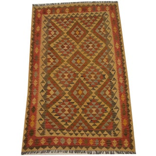 Herat Oriental Afghan Hand-woven Tribal Wool Kilim (5'2 x 8'4)